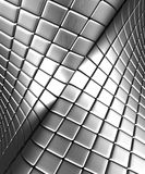 Abstract silver steel background with reflection. 3d illustration Stock Images