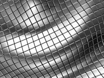 Abstract silver steel background with reflection. 3d illustration Royalty Free Stock Image