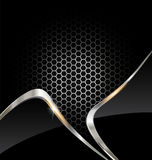 Abstract silver technology background Royalty Free Stock Photography