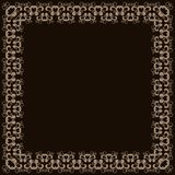 Abstract simmetric square frame Stock Images