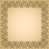 Abstract simmetric square frame Stock Image