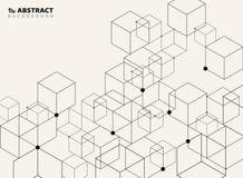 Abstract simple black geometric model pattern design background stock illustration