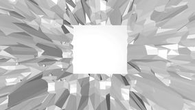 Abstract simple black and white low poly waving 3D surface as interesting backdrop. Grey geometric vibrating environment stock illustration