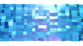 Abstract simple blue violet low poly 3D surface as transforming environment. Soft geometric low poly motion background stock video