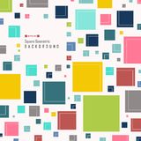 Abstract of simple colorful square geometric pattern background. Vector eps10 royalty free illustration