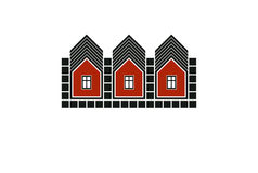 Abstract simple country houses vector illustration, homes image. Royalty Free Stock Photos