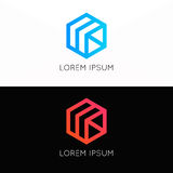 Abstract simple  cube logo sign company icon symbol Royalty Free Stock Photography