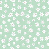 Abstract Simple Flower Seamless Pattern Background Stock Photo