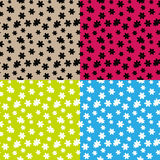 Abstract Simple Flower Seamless Pattern Background Stock Photos