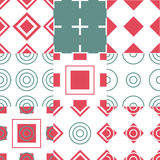 Abstract simple geometric seamless pattern vector Stock Photography