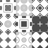 Abstract simple geometric seamless pattern vector Royalty Free Stock Image