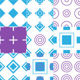 Abstract simple geometric seamless pattern vector Stock Image