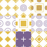 Abstract simple geometric seamless pattern vector. Illustration Stock Photo
