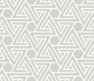Abstract simple geometric vector seamless pattern with white line texture on grey background. Light gray modern vector illustration