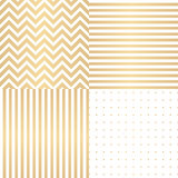 Abstract Simple Glossy Golden Seamless Pattern Background Collec Stock Image