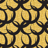 Abstract Simple Glossy Golden Seamless Pattern Background Stock Photography