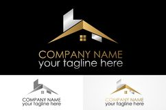 Home design logo. Abstract simple logo design eps Stock Image