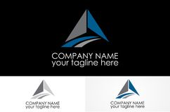Triangle road logo design. Abstract simple logo design eps Stock Photography