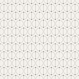 Abstract simple pattern with circles. Geometric vector background. Сircles separated by dots on two equal parts. Dots connected by lines. Trendy pattern for Royalty Free Stock Photo