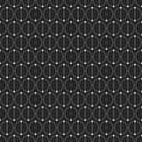 Abstract simple pattern with circles. Monochrome geometric vector background. Сircles separated by dots on two equal parts. Dots connected by lines. Trendy Stock Photo