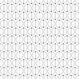 Abstract simple pattern with circles. Monochrome geometric vector background. Сircles separated by dots on two equal parts. Dots connected by lines. Trendy Royalty Free Stock Photography