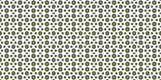 Abstract simple pattern with connected circles. Kaleidoscopic orient popular style Stock Images