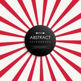 Abstract of simple red sunburst background stock illustration