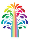 Abstract simple stylized tree rainbow color Stock Photos