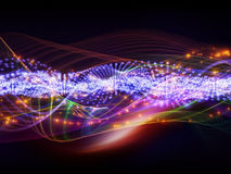 Abstract sine waves Stock Photography