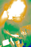 Abstract singer. Performing live in a club Stock Photography