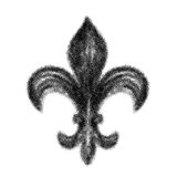 Abstract single Fleur-de-lis motif Stock Image