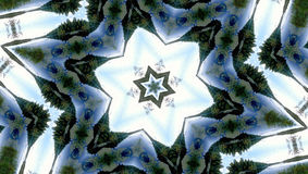 Abstract six-final star with patterns. Stock Images