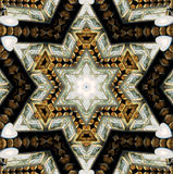 Abstract six-final star with patterns. Royalty Free Stock Photos