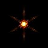 Abstract six shining rays star Stock Photos