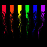 Abstract six-stripe rainbow flag Stock Images