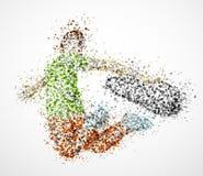 Abstract skateboarder vector illustration