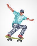 Abstract, skateboarder, athlete Stock Image