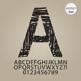 Abstract Sketch Alphabet and Digit Vector Stock Photography