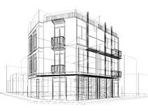 Abstract sketch design of exterior building Royalty Free Stock Photos