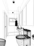 Abstract sketch design of interior bathroom Royalty Free Stock Photos