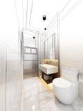 Abstract sketch design of interior bathroom Royalty Free Stock Image
