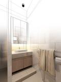 Abstract sketch design of interior bathroom Stock Photo