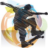 Abstract sketch of skater Royalty Free Stock Photo