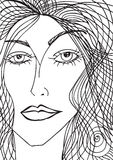 Abstract sketch of woman face Royalty Free Stock Photo