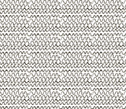 Abstract Sketched Scribble Waves Seamless Background Pattern Stock Photo