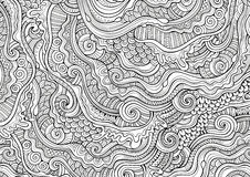 Abstract sketchy decorative doodles hand drawn ethnic pattern Stock Images