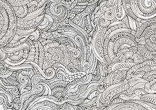 Abstract sketchy doodles hand drawn ethnic pattern Royalty Free Stock Photos