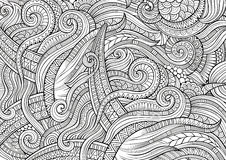 Abstract sketchy doodles hand drawn ethnic pattern Stock Photo