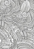 Abstract sketchy doodles hand drawn ethnic pattern Stock Image