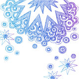 Abstract Sketchy Notebook Doodles vector illustration